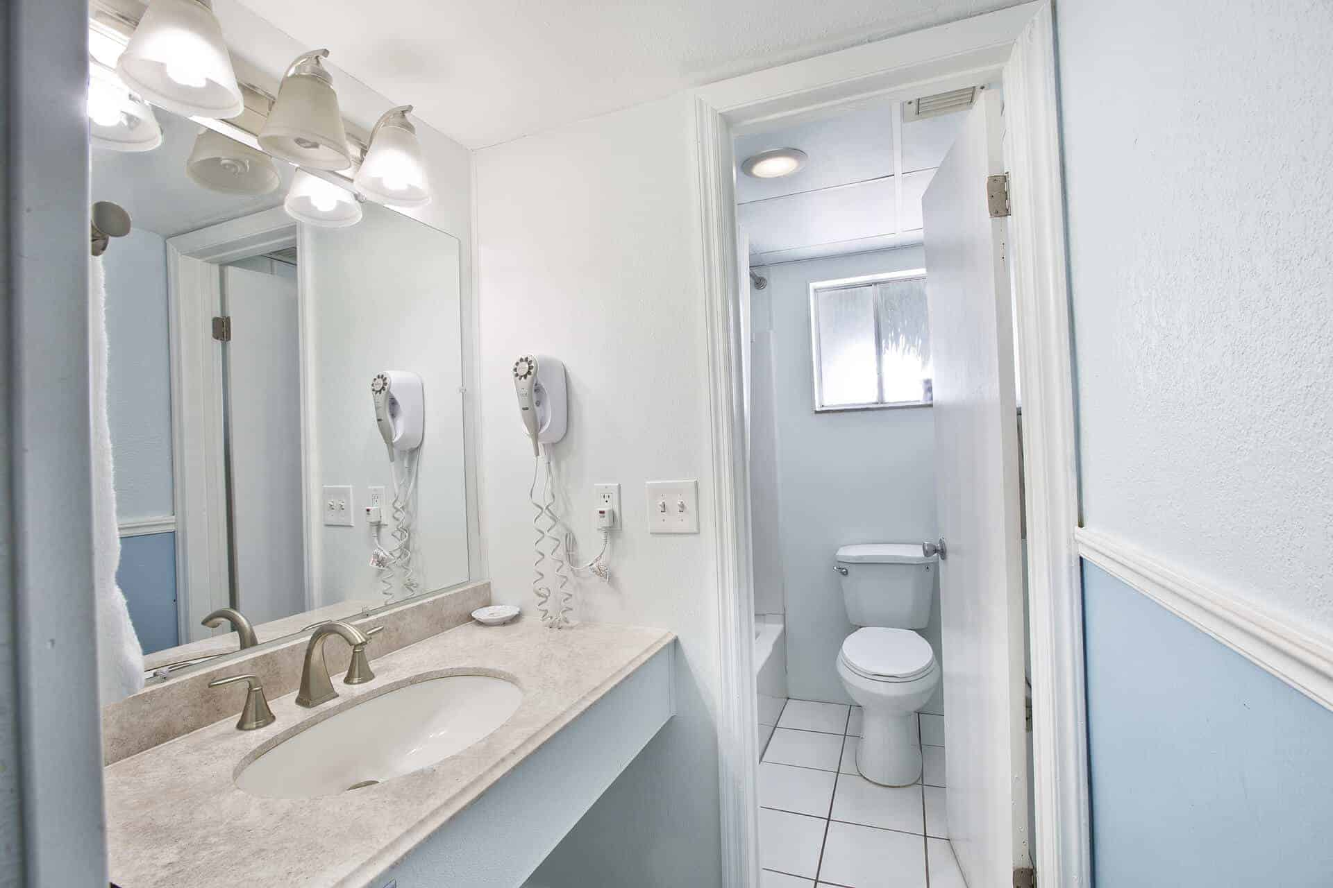 6 Suite bathroom on Fort Myers Beach Florida tub and shower