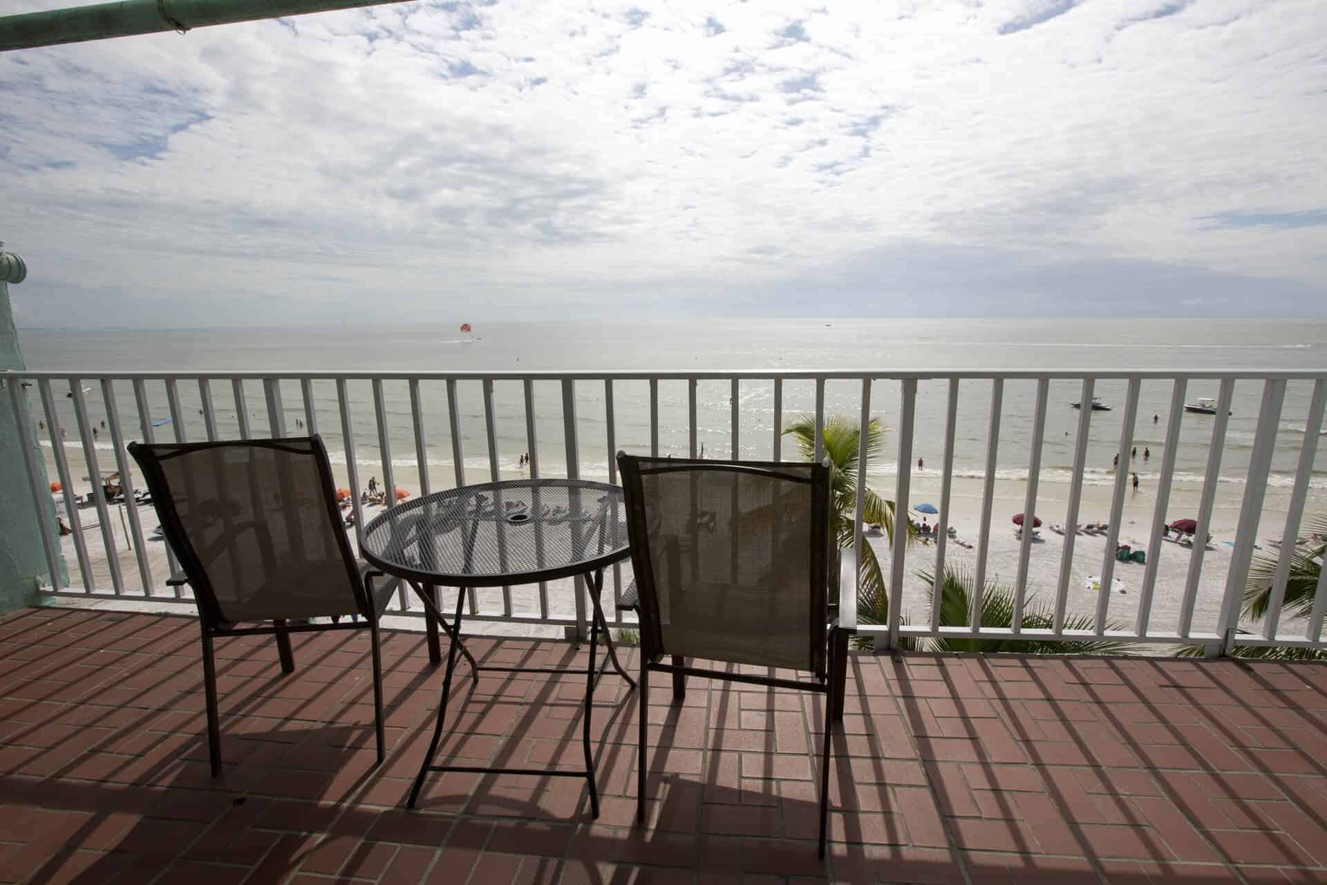 Beach Ocean Views Private balcony suite on Fort Myers Beach Florida