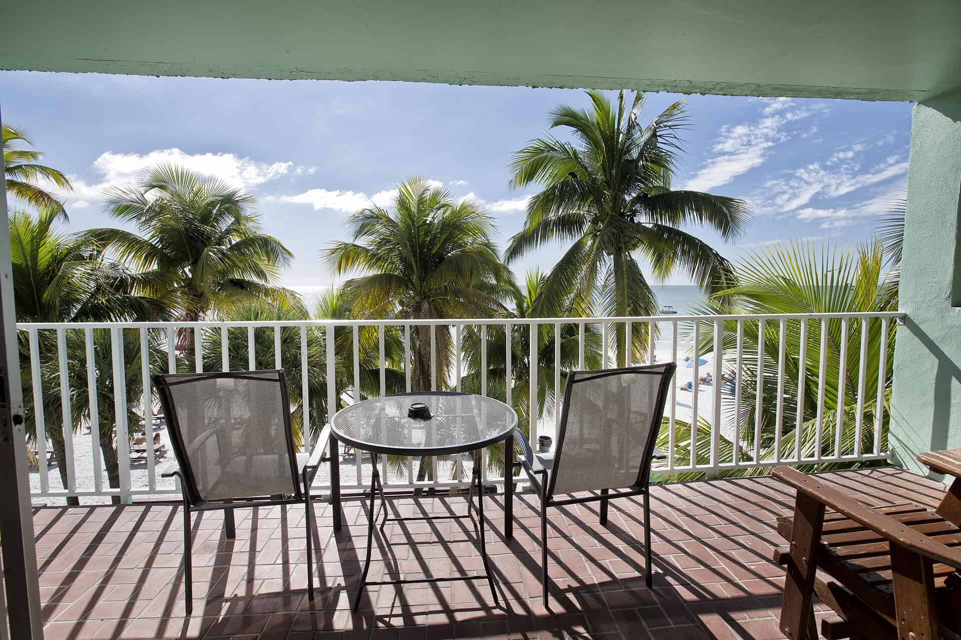 Extended private balcony One Bedroom Suite Fort Myers Beach accommodations