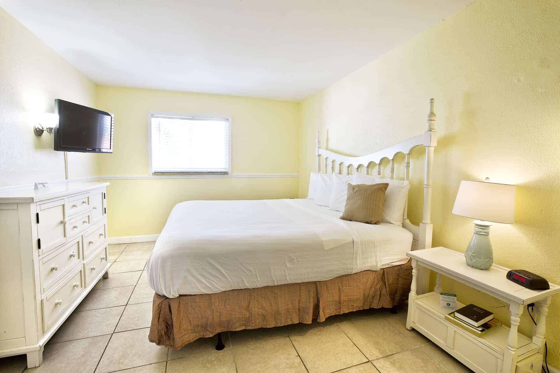Beachfront Suite Separate Bedroom with King Size Bed | Rooms Available | Fort Myers Beach