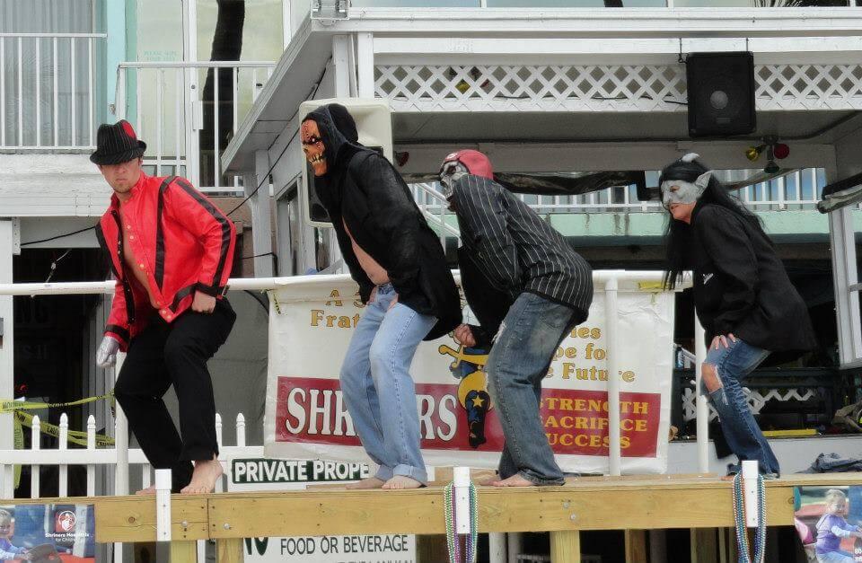 Lani Kai Spring Break | Cincinnati Firemen wearing Costumes | Fort Myers Beach