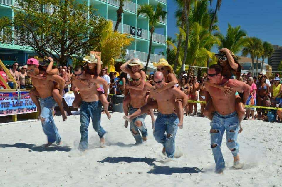 Lani Kai Spring Break | Cincinnati Firemen Piggyback Race | Fort Myers Beach