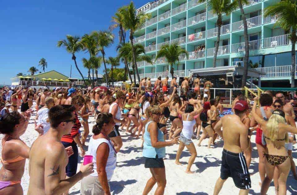 Lani Kai Spring Break | Cincinnati Firemen with Huge Beach Crowd | Fort Myers Beach