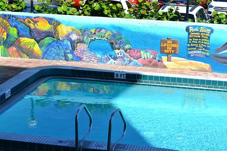 Lani Kai Island Resort | Mural Art: Coral Reef by the Pool | Fort Myers Beach