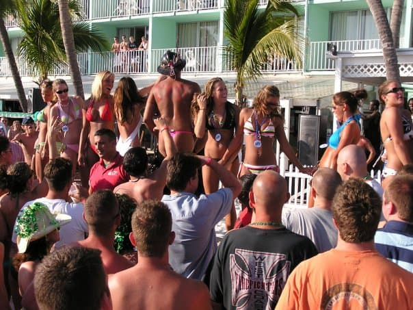 Lani Kai Spring Break | College Kids Watching Cincinnati Firemen | Fort Myers Beach