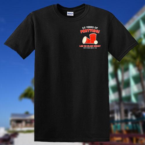 | Lani Kai 25th Spring Break Anniversary Tshirt Black FRONT | Fort Myers Beach