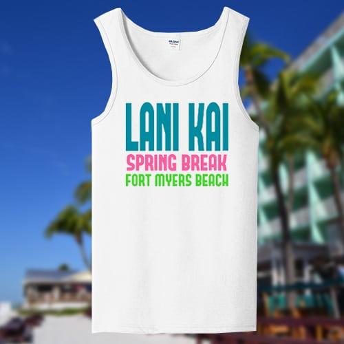 Lani Kai Sping Break tank top white | lani-kai-spring-break-2018-whitetank-with-bgv2