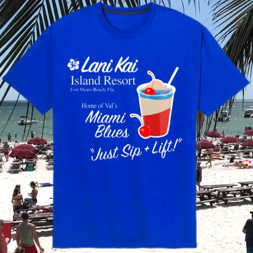 Lani Kai Vals Miami Blues T-shirt | Vals Miami Blue T-shirt