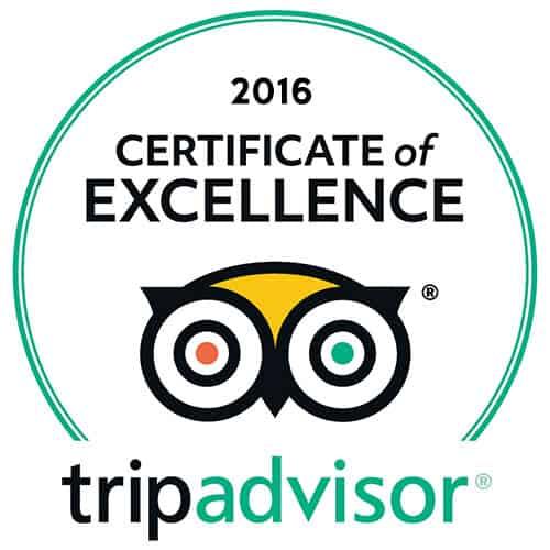 2016 Certificate of Excellence tripadvisor | tripadvisor-2016