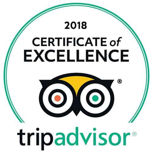 2018 Certificate of aExcellence tripadvisor | tripadvisor-2018