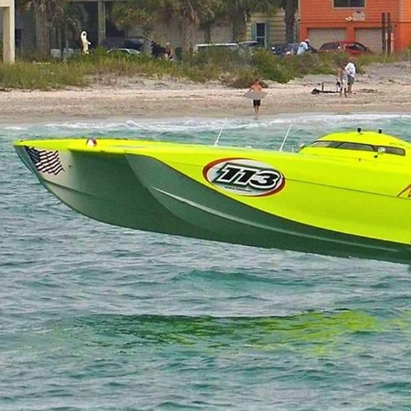 Green Speedboat | Roar Offshore Fort Myers Beach
